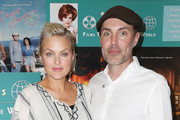 """Actress Elaine Hendrix (L) and director James Haven attend """"Kat Kramer's Films That Changed the World"""" Presents 9th Installment at the James Bridges Theater, UCLA on June 3, 2017 in Los Angeles, California."""
