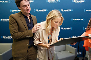 Kate Hudson Zach Braff and Kate Hudson Visit the Sirius XM Studios