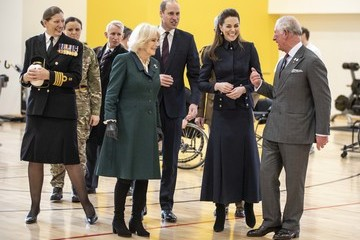 Kate Middleton Camilla Parker Bowles Prince Of Wales And Duchess Of Cornwall Visit Leicestershire