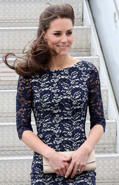 Kate Middleton Catherine, Duchess of Cambridge arrives at Macdonald-Cartier International Airport on June 30, 2011 in Ottawa, Canada. The newly married Royal Couple have arrived in Canada today for their first joint overseas tour. Ottawa is the start of a 12-day visit to North America which will take in some of the more remote areas of the country such as Prince Edward Island, Yellowknife and Calgary. The Royal couple will also join millions of Canadians to take part in tomorrow's Canada Day celebrations which mark Canada's 144th Birthday.