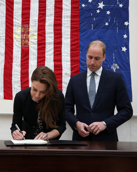 The Duke & Duchess of Cambridge Sign Book of Condolence For Orlando Shootings Victims