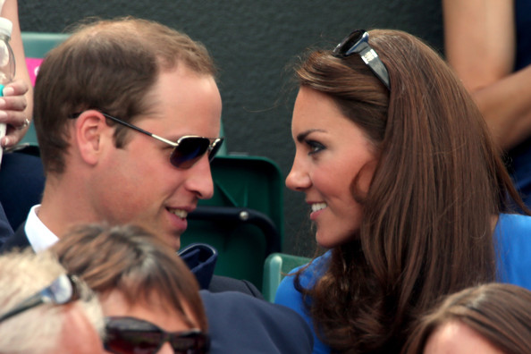 Kate Middleton Prince William, Duke of Cambridge and Catherine, Duchess of Cambridge attend the match between Andy Murray of Great Britain and Nicolas Almagro of Spain in the Quarterfinal of Men's Singles Tennis on Day 6 of the London 2012 Olympic Games at Wimbledon on August 2, 2012 in London, England.