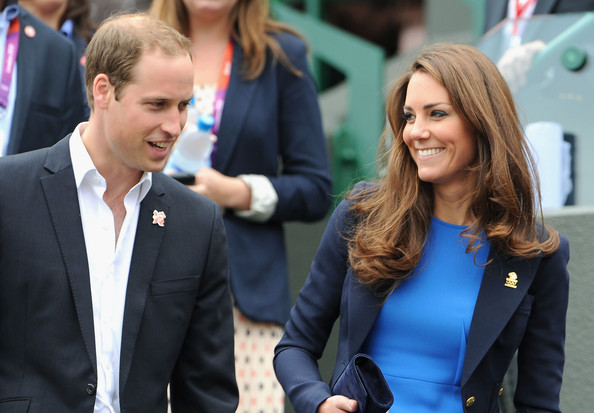 Kate Middleton Prince William, Duke of Cambridge and Catherine, Duchess of Cambridge during the match between Andy Murray of Great Britain and Nicolas Almagro of Spain in the Quarterfinal of Men's Singles Tennis on Day 6 of the London 2012 Olympic Games at Wimbledon on August 2, 2012 in London, England.