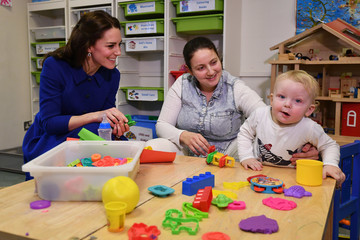 Kate Middleton The Duchess Of Cambridge Visits The Anna Freud Centre