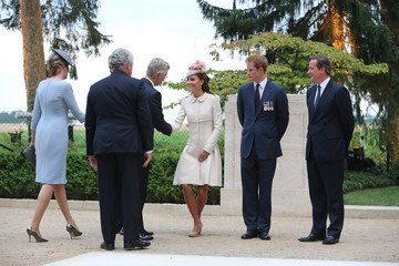 Kate Middleton British Royals Visit the St Symphorien Military Cemetery