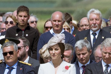 Kate Middleton Members Of The Royal Family Attend The Passchendaele Commemorations In Belgium