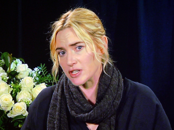 Kate Winslet Actor Kate Winslet speaks via satellite during the 'Mildred Pierce' panel at the HBO portion of the 2011 Winter TCA press tour held at the Langham Hotel on January 7, 2011 in Pasadena, California.