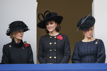 Katharine The Royal Family Lay Wreaths at the Cenotaph on Remembrance Sunday