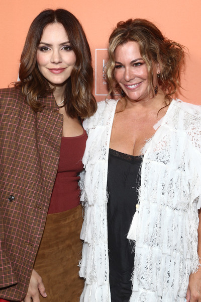The Kate Somerville Clinic's 15th  Anniversary Party  - Arrivals [clothing,fashion,outerwear,fashion design,long hair,brown hair,event,fashion accessory,beige,smile,kate somerville,katharine mcphee,los angeles,california,kate somerville clinic,the kate somerville clinic,15th anniversary party - arrivals,15th anniversary party]