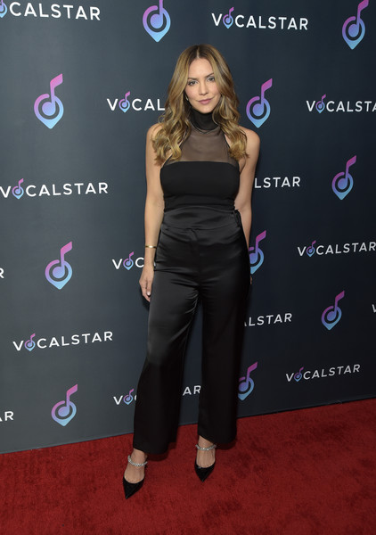 Vocal Star - Arrivals [vocal star - arrivals,katharine mcphee,vocal star,clothing,carpet,shoulder,red carpet,dress,joint,premiere,flooring,footwear,event,music seminar,loews hollywood hotel,hollywood,california]