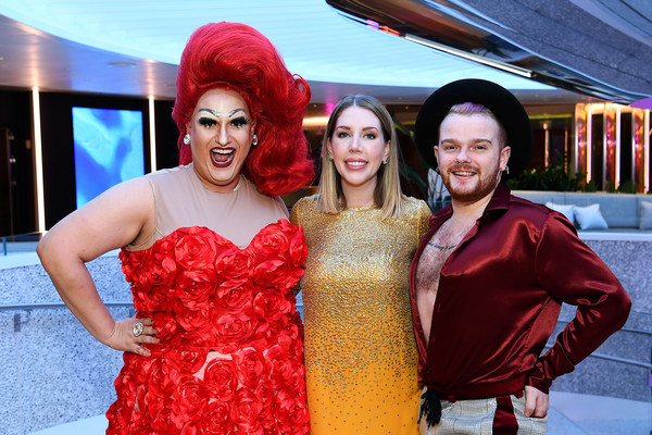 Virgin Voyages 'Scarlet Lady' Cruise Ship Arrives at Liverpool for Star-Studded Extravaganza [cruise ship arrives,red,event,fashion,lady,fun,dress,smile,costume,ceremony,happy,virgin voyages scarlet lady,katherine ryan,star-studded extravaganza,cruise ship,liverpool,england,virgin voyages,drinks reception,fashion,ceremony,socialite,party,beauty.m]