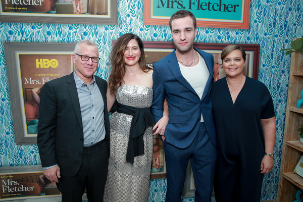 Premiere Of HBO's 'Mrs. Fletcher' - Red Carpet [event,house,leisure,tourism,family,red carpet,mrs. fletcher,amy gravitt,jackson white,tom perrotta,kathryn hahn,l-r,hbo,premiere,premiere]