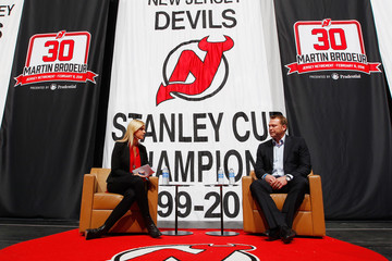 Kathryn Tappen New Jersey Devils Announce Retirement of Martin Brodeur's Number