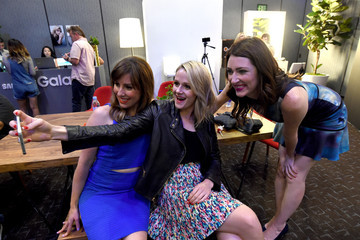 Katie O'brien Caitlin Barlow Behind The Scenes of the Getty Images Portrait Studio Powered By Samsung Galaxy At Comic-Con International 2015