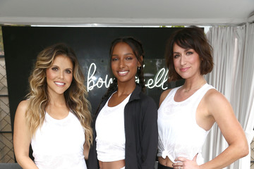 Katrina Scott Victoria's Secret And Tone It Up Host a Slay Then Rose Workout With VS Angel Jasmine Tookes