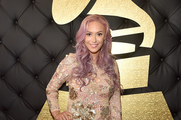 Kaya Jones The 59th GRAMMY Awards -  Red Carpet