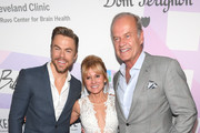 (L-R) Derek Hough, Cindy Gruden, and Kelsey Grammer attend the 24th annual Keep Memory Alive 'Power of Love Gala' benefit for the Cleveland Clinic Lou Ruvo Center for Brain Health at MGM Grand Garden Arena on March 07, 2020 in Las Vegas, Nevada.