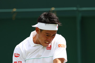 Kei Nishikori Day Two: The Championships - Wimbledon 2019