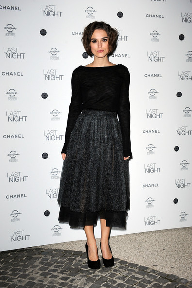 "Keira Knightley Actress Keira Knightley attends the ""Last Night"" dinner party during The 5th International Rome Film Festival at Casina Valadier on October 28, 2010 in Rome, Italy."