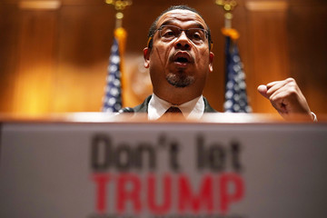 Keith Ellison Sen. Jeff Merkley (D-OR) Holds News Conference on Labor Department's Proposed Rule Surrounding Employees Tips
