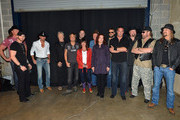 Brantley Gilbert, Trace Adkins, Tim McGraw, Kris Kristofferson, Keith Urban, Vince Gill, Jessi Colter, Billy Joe Shaver, Rosanne Cash, Eric Church, Troy Gentry, Eddie Montgomery, Hank Williams Jr, and Kid Rock backstage during Keith Urban's Fourth annual We're All For The Hall benefit concert at Bridgestone Arena on April 16, 2013 in Nashville, Tennessee.