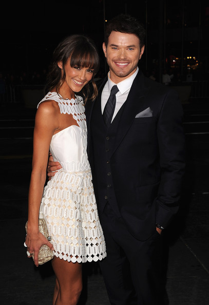 "Kellan Lutz Actors Sharni Vinson and Kellan Lutz arrive at Relativity Media's ""Immortals"" premiere presented in RealD 3 at Nokia Theatre L.A. Live on November 7, 2011 in Los Angeles, California."