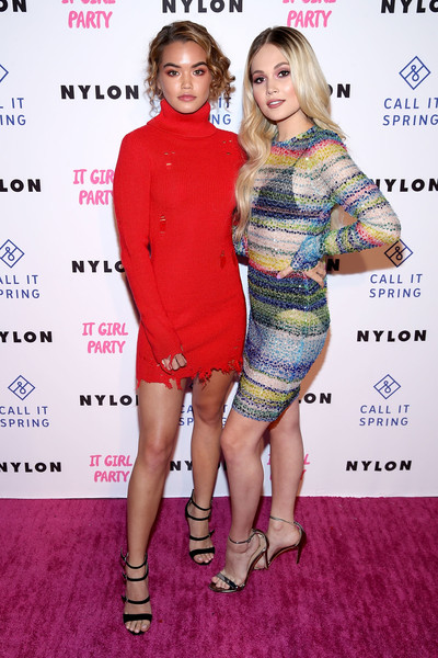 NYLON's Annual It Girl Party At The Ace Hotel Sponsored By Call It Spring [clothing,cocktail dress,dress,fashion,footwear,carpet,premiere,joint,red carpet,fashion design,kelli berglund,ace hotel,los angeles,california,nylon,call it spring,it girl party,paris berelc,annual it girl party]
