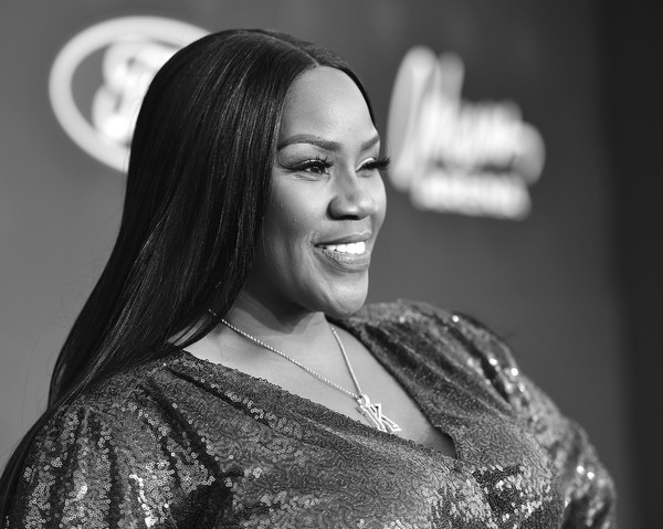 BET Presents: 2019 Soul Train Awards -  Red Carpet [hair,black,facial expression,lady,beauty,black-and-white,eyebrow,smile,hairstyle,monochrome photography,kelly price,las vegas,nevada,orleans arena,red carpet,bet,bet presents: 2019 soul train awards]