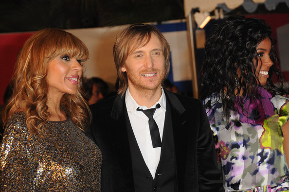 NRJ Music Awards 2010 - Outside Arrivals [event,fashion,fashion design,premiere,formal wear,long hair,smile,suit,cathy guetta,david guetta,kelly rowland,nrj music awards 2010,arrivals,cannes,france,l,palais des festivals]