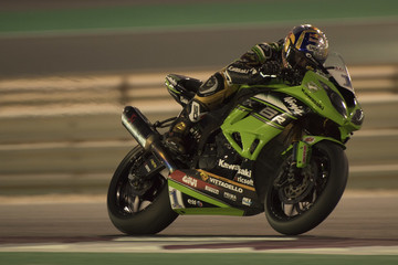 Kenan Sofuoglu FIM Superbike World Championship in Qatar - Race 1