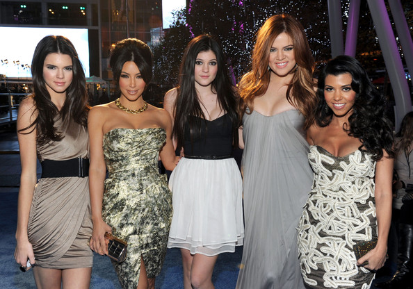Kendall Jenner (L-R) Kendall Jenner, Kim Kardashian, Kylie Jenner, Khloe Kardashian and Kourtney Kardashian arrive at the 2011 People's Choice Awards at Nokia Theatre L.A. Live on January 5, 2011 in Los Angeles, California.