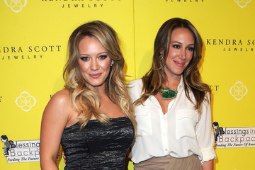 """Hilary Duff Haylie Duff Kendra Scott Jewelry Of Beverly Hills Grand Opening Benefiting """"Blessings In A Backpack"""""""