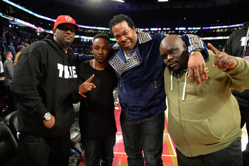 Kendrick Lamar Celebrities Attend The 63rd NBA All-Star Game 2014