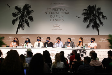 """Kenza Fortas François Civil """"Bac Nord"""" Press Conference - The 74th Annual Cannes Film Festival"""