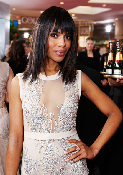 Kerry Washington - smartwater At The Golden Globes Red Carpet