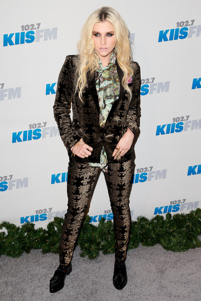 KIIS FM's 2012 Jingle Ball - Night 2 - Arrivals [footwear,fashion model,flooring,fashion,tights,leg,outerwear,leggings,long hair,carpet,arrivals,footwear,ke$ha,fashion,fashion model,flooring,nokia theatre l.a. live,california,kiis fm,jingle ball,kesha,actor,singer,composer,clothing,7 for all mankind]