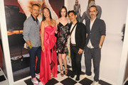 (L-R) Rolf Snoeren, Co-founder of Visionaire Cecilia Dean, Co-founder of Visionaire James Kaliardos, Coco Rocha and Viktor Horsting attends  the launch of an Interactive Installation with Ketel One Family-Made Vodka Fetes Fashion Artists Viktor&Rolf, alongside Visionaire at Cadillac House on September 8, 2018 in New York City.