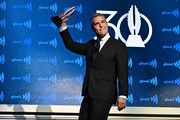 Andy Cohen celebrates on stage wth an award during the 30th Annual GLAAD Media Awards in partnership with Ketel One Family-Made Vodka, longstanding ally of the LGBTQ community on May 04, 2019 in New York City.