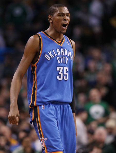 Kevin Durant 35 Of The Oklahoma City Thunder Celebrates