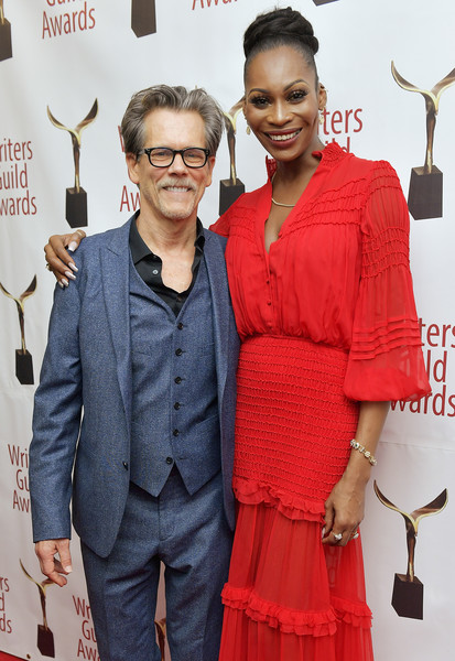 72nd Writers Guild Awards - New York Ceremony - Inside [red,eyewear,fashion,carpet,event,premiere,fashion design,red carpet,dress,flooring,dominique jackson,kevin bacon,new york,edison ballroom,writers guild awards,amy poehler,kevin bacon,72nd writers guild of america awards,united states,writers guild of america,celebrity,television,image,casting society of america,photograph]