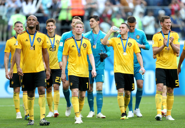 Belgium vs. England: 3rd Place Playoff - 2018 FIFA World Cup Russia [team sport,player,team,soccer player,sport venue,football player,ball game,soccer,football,sports,3rd place playoff - 2018 fifa world cup,sides victory,match,russia 3rd place playoff,2018 fifa world cup,belgium,russia,england,saint petersburg stadium,players]