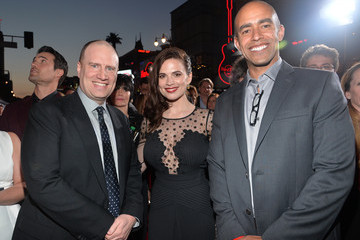 Kevin Feige Nate Moore 'Captain America: The Winter Soldier' Premiere — Part 2
