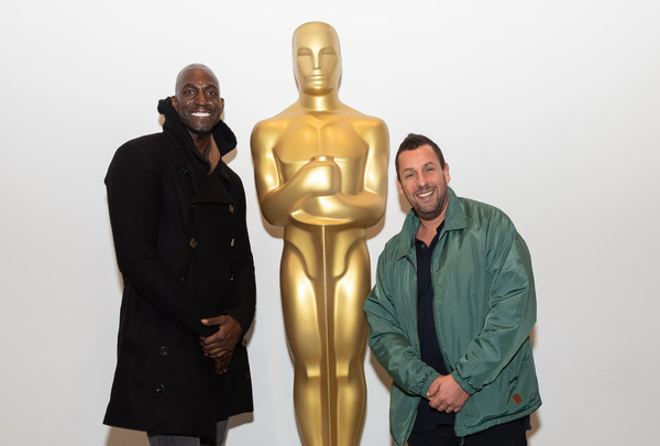 The Academy Of Motion Picture Arts And Sciences Screening Of 'UNCUT GEMS' [the academy of motion picture arts sciences hosts an official academy screening of uncut gems,sculpture,outerwear,art,bronze sculpture,statue,metal,figurine,fictional character,adam sandler,kevin garnett,moma - celeste bartos theater,new york city,academy of motion picture arts sciences hosts an official academy screening of uncut gems]