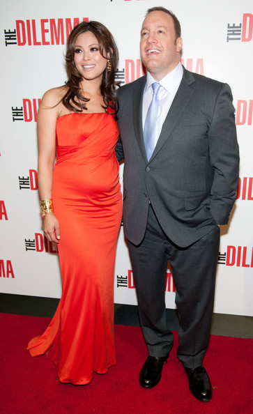 Kevin James with beautiful, cute, Wife Steffiana de la Cruz