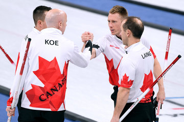 Kevin Koe Curling - Winter Olympics Day 6
