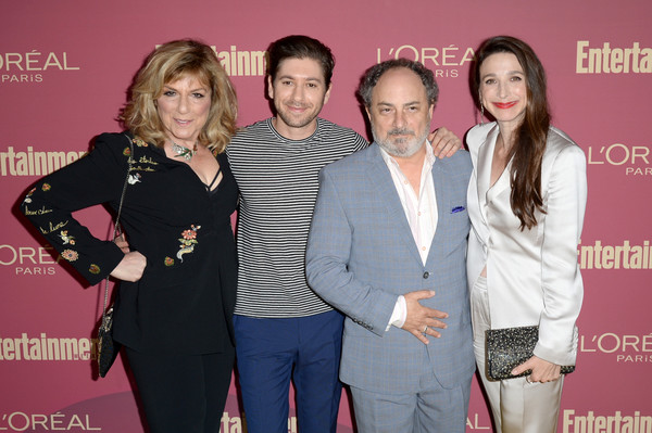 Entertainment Weekly And L'Oreal Paris Hosts The 2019 Pre-Emmy Party - Inside [event,fashion,premiere,fashion design,carpet,award,marin hinkle,kevin pollak,michael zegen,caroline aaron,pre-emmy,l-r,entertainment weekly,loreal paris hosts,party,pre-emmy party]