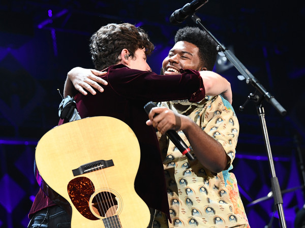 102.7 KIIS FM's Jingle Ball – Show [string instrument,performance,musician,music,entertainment,guitar,musical instrument,performing arts,music artist,shawn mendes,khalid,inglewood,california,kiis fm,l,capital one,the forum,jingle ball -- show]