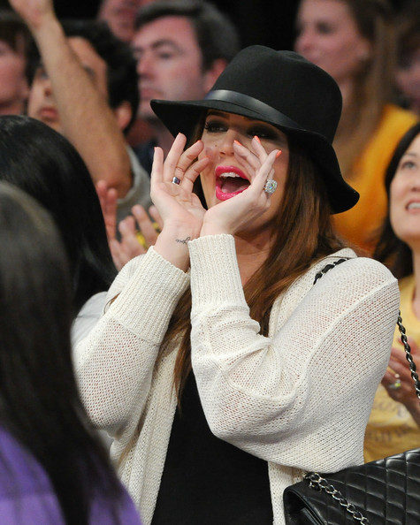 Khloe Kardashian Khloe Kardashian attends the game between the New Orleans Hornets and the Los Angeles Lakers at Staples Center on April 20, 2011 in Los Angeles, California.