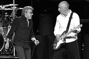 Image was processed using digital filters) Singer Roger Daltrey (L) and guitarist Pete Townshend of The Who perform on the first night of the band's residency at The Colosseum at Caesars Palace on July 29, 2017 in Las Vegas, Nevada.