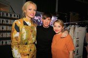 Franziska Knuppe, Kilian Kerner and Anna Maria Muehe are seen backstage ahead of the Kilian Kerner show during the Mercedes-Benz Fashion Week Berlin Autumn/Winter 2016 at Ellington Hotel on January 20, 2016 in Berlin, Germany.
